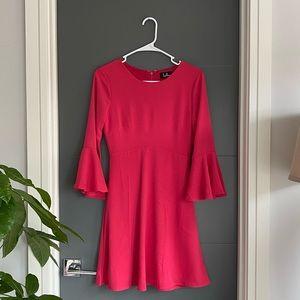 LULUS Fuschia Pink Flare Dress in XS